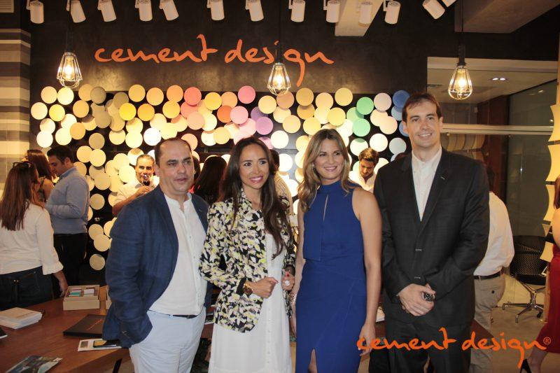 Opening Repubica Dominicana Foto Cement Design con Carolina Valencia, Jorge Hernández, Diego Garcés y Patricia Santana